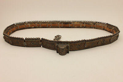 Antique Original Silver Niello Amazing Strong Russian Belt