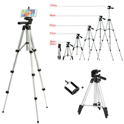 Camera Tripod Stand Mount Phone Holder Bracket for Cell Phone iPhone XS Samsung