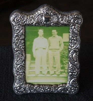 Sterling Silver Antique Style Easel Standing Photo Frame H/m 1997 #24
