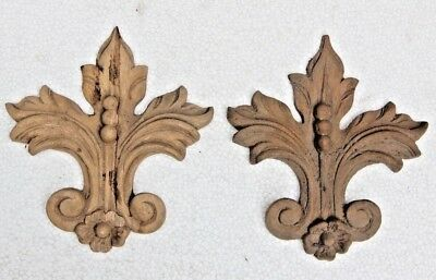 Beautiful Hand Carved Wooden French Saint fleur-de-lis Gothic carvings