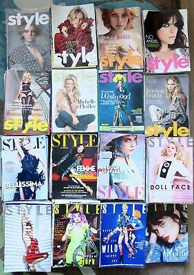 STYLE Magazine x647 issues 2002-2018 SUNDAY TIMES Fashion Culture Design job lot