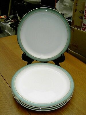 4 x Denby Regency Green Salad / Desert Plates In Good But Used Con Free UK P&P