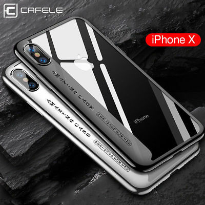 the latest 302f7 95632 ORIGINAL CAFELE CASE For iPhone X Thin Plating Soft TPU Shockproof Cover  Amazing