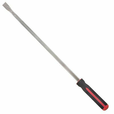 "2pc Extra Long 36"" / 3 Feet Straight and Angled Pry Bar Set Crow Bars Lever"