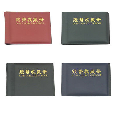 60/180 Pockets Coin Holders Collection Storage Money Penny Album Book Collecting