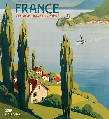 France Vintage Travel Posters 2019 Wall Calendar (French) Free Shipping!