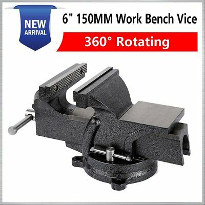 """6"""" 150Mm Work Bench Vice Vise Workshop Clamp Engineer Jaw Swivel Base Heavy Duty"""