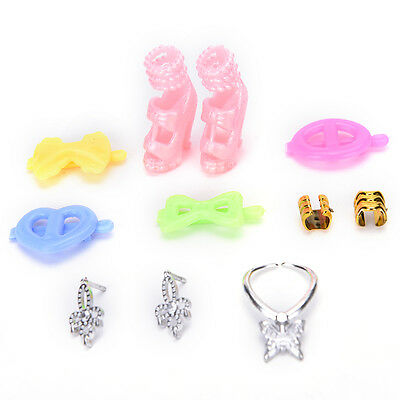 8pcs/Set Jewelry Necklace Earring Shoes Accessories For Barbie Dolls FT