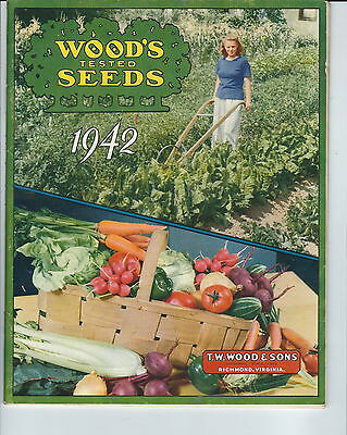 MB-102 - Wood's 1942 Seed Catalog Guide, 78 Pages, Richmond, VA Illustrated
