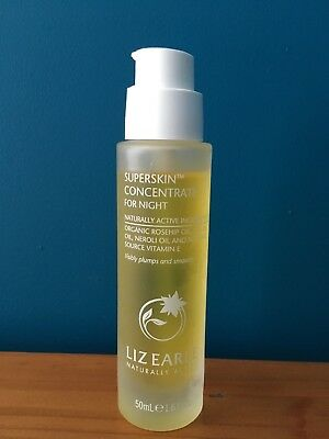 Liz Earle Superskin Concentrate For Night 50ml bottle about 45ml left