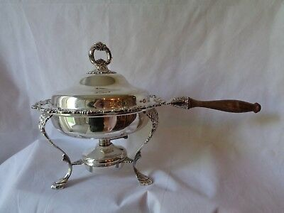Vintage Wallace Silverplate Baroque Chafing Dish Stand & Burner 295
