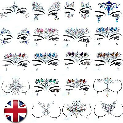 Face & Body Gems - Jewel Rhinestone Temporary Tattoo - Party Festival Make Up