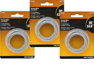 Picture Hanging Wire Easy To Install By The Hillman Group 121110 **3 Pack**
