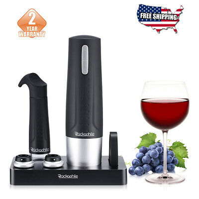 Electric Wine Bottle Opener Gift Set Rechargeable Bottle Opener Wine Vacuum Pump