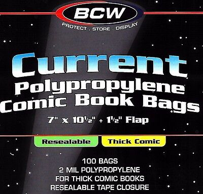 800 Current Resealable Thick Comic Bags and Boards Archival BCW Storage Supplies