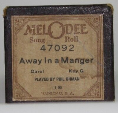 MELODEE Player Piano Roll Away In A Manger Christmas Song 47092