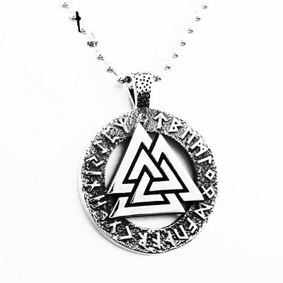 Retro Norse Viking Amulet Celtic Knot 316L Stainless Steel Pendant No Chain P149