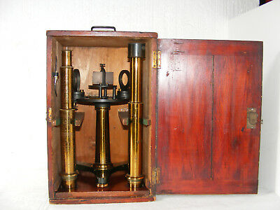 LARGE SPECTROSCOPE WITH PRISM BY JOHN BROWNING OF LONDON IN CASE, c.1860s
