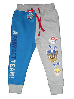 bnwt boys paw patrol joggers tracksuit trousers bottoms 2,3,4,5 yrs