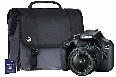 Canon EOS 4000D SLR Camera Kit with EF-S 18-55 mm III Lens/16 GB SD Card -Black