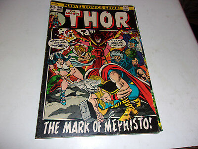 The Mighty Thor # 205--Mephistp appearance--Gerry Coinway,John Buscema--1972--F