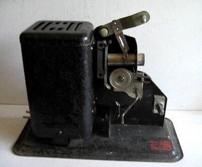 """Lindstrom Movie Projector 1015-A w/ Shirley Temple """"Peace Maker"""" & """"Our Gang"""""""