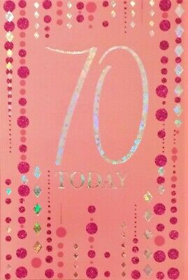 Female Ladies 70th Birthday Greeting Card For Her