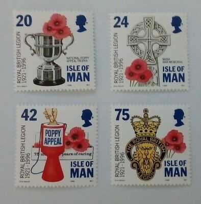 Isle of Man 1996 Set of 4 stamps - 75th Anniversary of the Royal British Legion