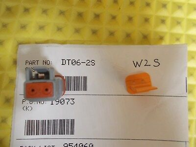 DEUTSCH DT06-2S DT Series 2 Pin Plug & W2S Wedgelock