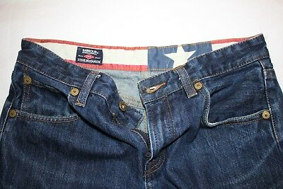 "Ladies Barbour International Steve Mcqueen Denim Jeans Uk 28"" W L 27"""