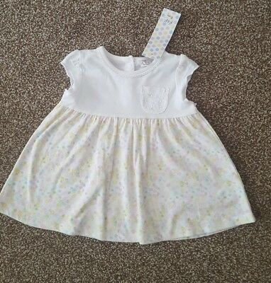 BNWT Baby Girl Lace Floral Summer Dress From F&F uk 9-12 months.