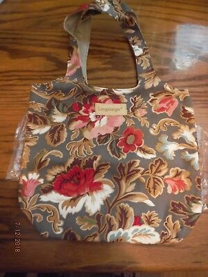 Longaberger Small Grocery Tote in MAJOLICA GARDEN - New in bag #23731245