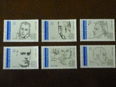 France 1991 Red Cross Fund set of 6 vf mint never hinged SG 3013 - 3018
