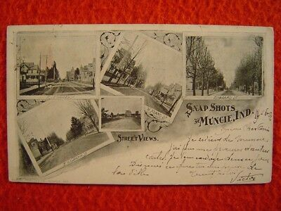 MUNCIE, INDIANA - SNAP SHOTS - STREET VIEWS - 1 Postkarte