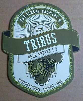 Beer pump badge clip ILKLEY brewery TRIBUS 1.7 pumpclip front cask ale Yorkshire