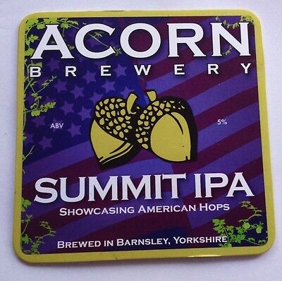 ACORN brewery SUMMIT IPA cask ale pumpclip beer badge front pump clip Yorkshire