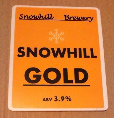 SNOWHILL brewery GOLD real cask ale beer pump clip badge front Lancs pumpclip