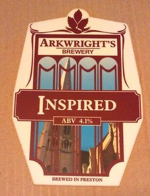 ARKWRIGHT'S brewery INSPIRED cask ale beer pump clip badge front pumpclip