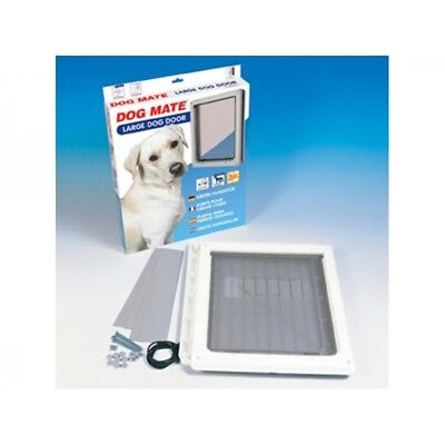 Dog Mate Pet Dog Door Flap Dogs Large White 216 216W Flap size 34.5 x 29.5cm
