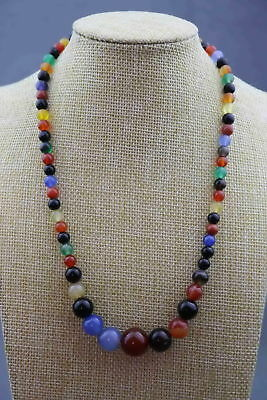 Handwork Natural Agate Carve Natural Texture Bead Exquisite Lucky Noble Necklace