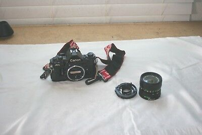 Canon A-1 A1 35mm SLR Film Camera w/Canon 35-70mm 1:3.5-4.5 Lens Needs Some Work