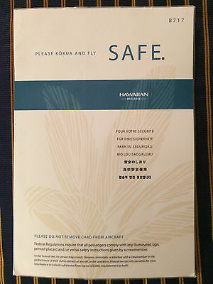 Hawaiian Airlines Boeing B717 Airplane Safety Card