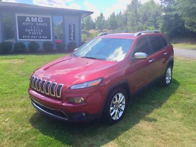 Cherokee Limited 4dr SUV 2014 Jeep Cherokee Limited 4dr SUV 60,257 Miles Burgundy SUV I4 2.4L Natural Asp