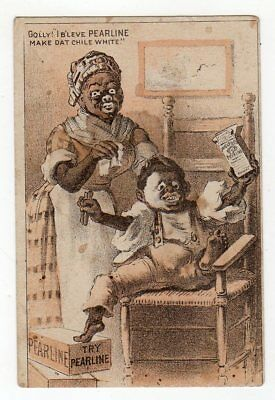 Black Mother Washing The Color Off The Face Of Her Child Using Pearline Soap