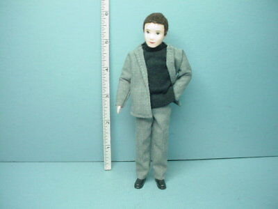 "Miniature Young Man ""Mark"" #10803 Dollhouse Doll,Handcrafted Erna Meyer 1/12"