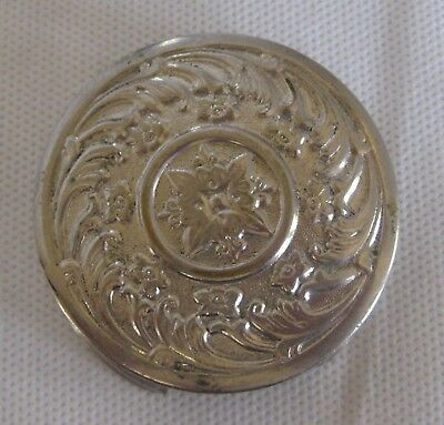 Antique Silver Plate Telescoping Folding Cup - Floral Design - 1897