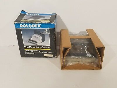 Small ROLODEX S-300C Vintage Business Telephone & Address Index Filing Card File