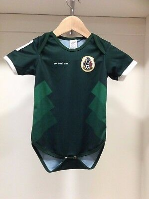 f0fa60b3fcd MEXICO SOCCER Baby Outfit Mameluco Infant Boy Girl Bodysuit T-shirt ...