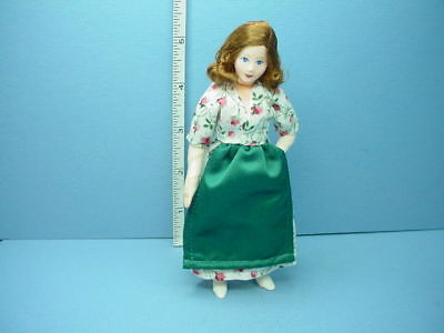 Miniature Young Woman Angela #10712 Dollhouse Doll, Handcrafted Erna Meyer