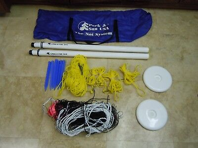 Park & Sun The Net System Outdoor Volleyball Net with Carrying Bag